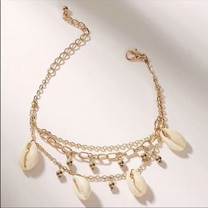 Triple Layer Cowrie Shell Anklet / Bracelet